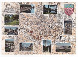 80 Amiens N°021 96 Beau Plan De La Ville Et 9 Vues Et Blason VOIR DOS - Zonder Classificatie