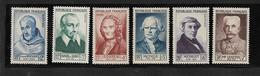 France Timbres De 1953  Célébrités  N°945 A 950 Neufs ** Cote 70€ - Unused Stamps