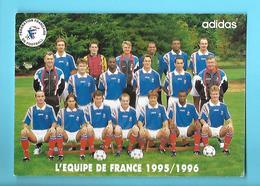 FOOTBALL--L'équipe De France 1995 : 1996---ADIDAS---carte PUB--voir 2 Scans - Football