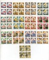 Italia  - Repubblica - 1980/1981 - Lotto 13 Quartine Della Serie Castelli D'Italia - Usati - Vedi Foto - (FDC20723) - Lotti E Collezioni