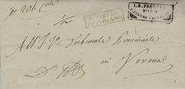 VENETO- Lettera Da S.PIETRO / INCARRIANO  Per Verona - Rating Mark 1 /2 - 1. ...-1850 Prephilately