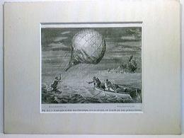 Ballonfahrt, Arban Après Sa Chute Dans L'Adriatique, Avec Son Aérostat ...; 1868; Keilschnittpassepartout (Lei - Vieux Papiers
