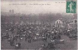 71. CHALON-SUR-SAONE. Place Mathias Un Jour De Foire. 35 - Chalon Sur Saone