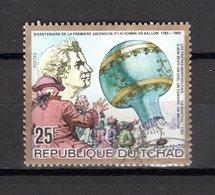 TCHAD   N°  408   OBLITERE    COTE  0.15€     L'HOMME DANS L'ATMOSPHERE - Chad (1960-...)