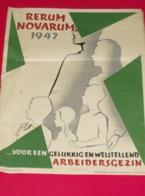 Affiche Poster - Rerum Novarum 1947 - Druk Marci Brussel - Affiches