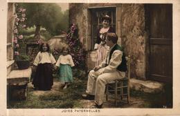 CPA FANTAISIE - COUPLE ENFANTS - JOIES PATERNELLES - Scènes & Paysages