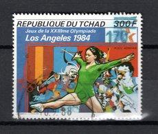 TCHAD   N°  506K   OBLITERE    COTE  ? €   JEUX OLYMPIQUES LOS ANGELES  SURCHARGE - Ciad (1960-...)