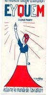 Carton Publicitaire Tricolore : La Nouvelle Bougie D'aviation EYQUEM, Licence Marty, éclaire Le Monde...( Lucien Lafoze) - Advertising