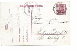 SH 0395. Zivilarbeitpostkarte 2 Obl. FELD-POST 22.9.18 + Cachet Brief-Stempel V. Berlin. TB - Esercito Tedesco