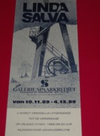 Affiche Poster - Kunst Art - Exposition Linda Salva - Galerie Spaarkrediet Brugge - 1989 - Affiches