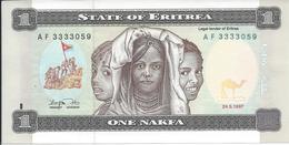 ERYTHREE   1  Nakfa   1997   -- UNC - Eritrea
