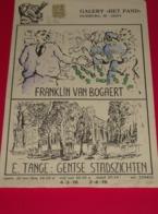 Affiche Poster - Kunst  Expositie Franklin Van Bogaert & E. Tanghe - Galerie Het Pand Gent + Orig. Handtekeningen - 1978 - Affiches