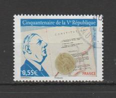 FRANCE / 2008 / Y&T N° 4282 : Vème République (et De Gaulle) - Choisi - Cachet Rond - Oblitérés