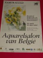 Affiche Poster - Kunst Art Exposition Aquarelsalon Van België - Namur Arsenal - 1997 - Affiches