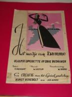 Affiche Poster - Operette Het Meisje Van Damme - Lyrisch Gezelschap Kunst Veredelt Roeselare - Jan Himpe - Affiches