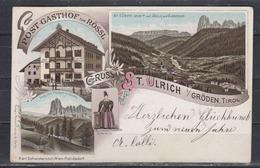 """Österreich Color-Litho  """"Gruss Von St.Ulrich I/Gröden,Tirol"""" EF 51 O St.Ulrich In Gröden/28.12.96 Nach Deutschland - Cartas"""
