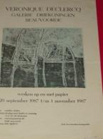 Affiche Poster - Kunst Art - Tentoonstelling Veronique Declercq - Galerie Driekoningen Beauvoorde - 1987 - Affiches