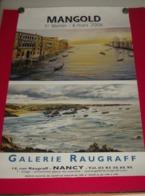 Affiche Poster - Kunst Art - Exposition Peintre Mangold - Galerie Raugraff - Nancy 2008 - Affiches
