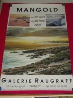 Affiche Poster - Kunst Art - Exposition Peintre Mangold - Galerie Raugraff - Nancy 2005 - Affiches