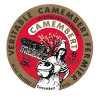ETIQUETTE De FROMAGE..CAMEMBERT Fabriqué En NORMANDIE.Michel DELORME à CAMEMBERT ( Orne 61) - Cheese
