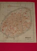 Kaart Carte - Plan Bruges - Brugge - Graph. Inst. Klinhardt - Leipzig - Cartes Géographiques
