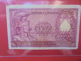ITALIE 100 LIRE 1951 SIGNATURE B CIRCULER (B.11) - [ 2] 1946-… : Repubblica