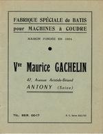 Antony Petit Catalogue (12x16) 6 Pages Fabrique Spéciale De Batis Pour Machine à Coudre Vve Maurice Gachelin - Frankrijk