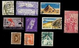Egypte - Oblitéré - Lot De 10 Timbres Scannés Recto Verso - Égypte