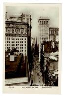 Ref 1351 - Early Real Photo Postcard - Wall Street - New York - USA - Wall Street