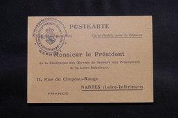 FRANCE - Carte Postale D'Accusé Réception De Colis Pour Prisonniers Allemands Pour Nantes - L 56551 - Guerre De 1914-18