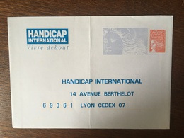 PAP REPONSE HANDICAP INTERNATIONAL 909 107/599 - Prêts-à-poster: Réponse