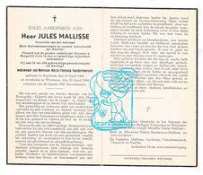 DP Gemeentersecretaris Schoolmeester Kemmel - Jules Mallisse ° Kachtem Izegem 1860 † Wetteren 1944 X MTh. Vandermeersch - Devotion Images