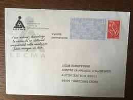 PAP REPONSE LIGUE EUROPEENNE CONTRE LA MALADIE D'ALZHEIMER 06P085 - Prêts-à-poster: Réponse