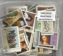 """Lot 200 Timbres Thematique """" Tableaux """" - Non Classés"""