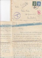 COVER. 17 10 42. FELDPOST N° 13750 RUSSLAND. TO SAN SEBASTIEN SPAIN. CORRESPONDENCE 4 PAGES - Allemagne