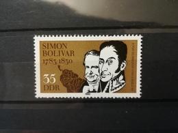 FRANCOBOLLI STAMPS GERMANIA DEUTSCHE DDR 1983 MNH** NUOVI 200 ANNI ANNIVERSARY SIMON DE BOLIVAR GERMANY - [6] Repubblica Democratica