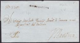 1802. VERONA A MANTOVA. MARCA LINEAL VERONA CISALPINA. CERT. DE OFICIO. MUY INTERESANTE ENVUELTA CON ANOTACIONES. - ...-1850 Voorfilatelie