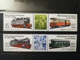 FRANCOBOLLI STAMPS GERMANIA DEUTSCHE DDR 1984 MNH** NUOVI SERIE COMPLETA COMPLETE TRENI TRAIN RAILWAYS GERMANY - [6] Repubblica Democratica