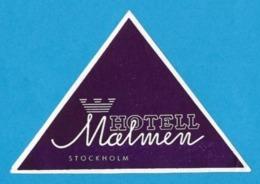 Etiquette  Hôtel Malmen à Stockholm En Suede.   Luggage Label. - Etiquettes D'hotels