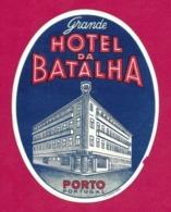 Etiquette  Hôtel Da Batalha à Porto Au Portugal.   Luggage Label. - Etiquettes D'hotels