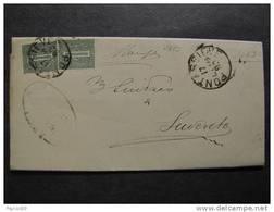 """2482 ITALIA Regno-1866- """"T 14 Ciffra"""" C. 1 PONTASSIEVE>SUVERETO (descrizione) - 1861-78 Vittorio Emanuele II"""