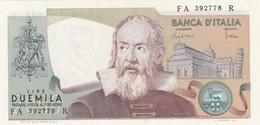 ITALIA BANCONOTA DA LIRE 2000 TIPO GALILEO SERIE FA 392778 R FDS - 2000 Lire