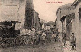 54-CERCUEIL-RUE DE VELAINE-CALECHE-EPICERIE AMBULANTE - France