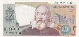 ITALIA BANCONOTA DA LIRE 2000 TIPO GALILEO SERIE FA 392781 R FDS - 2000 Lire