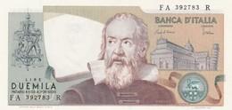 ITALIA BANCONOTA DA LIRE 2000 TIPO GALILEO SERIE FA 392783 R FDS - 2000 Lire