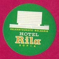 Etiquette Hôtel Rila à Sofia En Bulgarie.   Luggage Label. - Etiquettes D'hotels