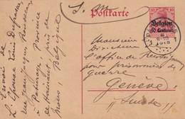 ALLEMAGNE  OCCUPATION BELGIQUE 1915   ENTIER POSTAL/GANZSACHE/ POSTAL STATIONERY  CARTE DE PATURAGES - Occupation 1914-18