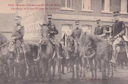 1909 Grandes Manoeuvres De L Armee Belge Etat Major De La 4 Me Brigade De Cavalerie - Guerre 1914-18