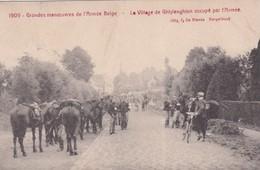 1909 Grandes Manoeuvres De L Armee Belge Le Village De Ghislenghien Occupe Par L Armee - Guerre 1914-18