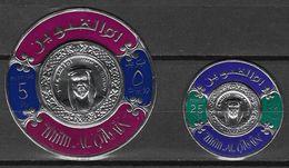 Asie - Umm Al-Qiwain 2 Timbres Argent Polychrom - Rond Conéfrence Monétaire Du Golfe Persique Neuf ** TB -  Voir Scans - Umm Al-Qiwain